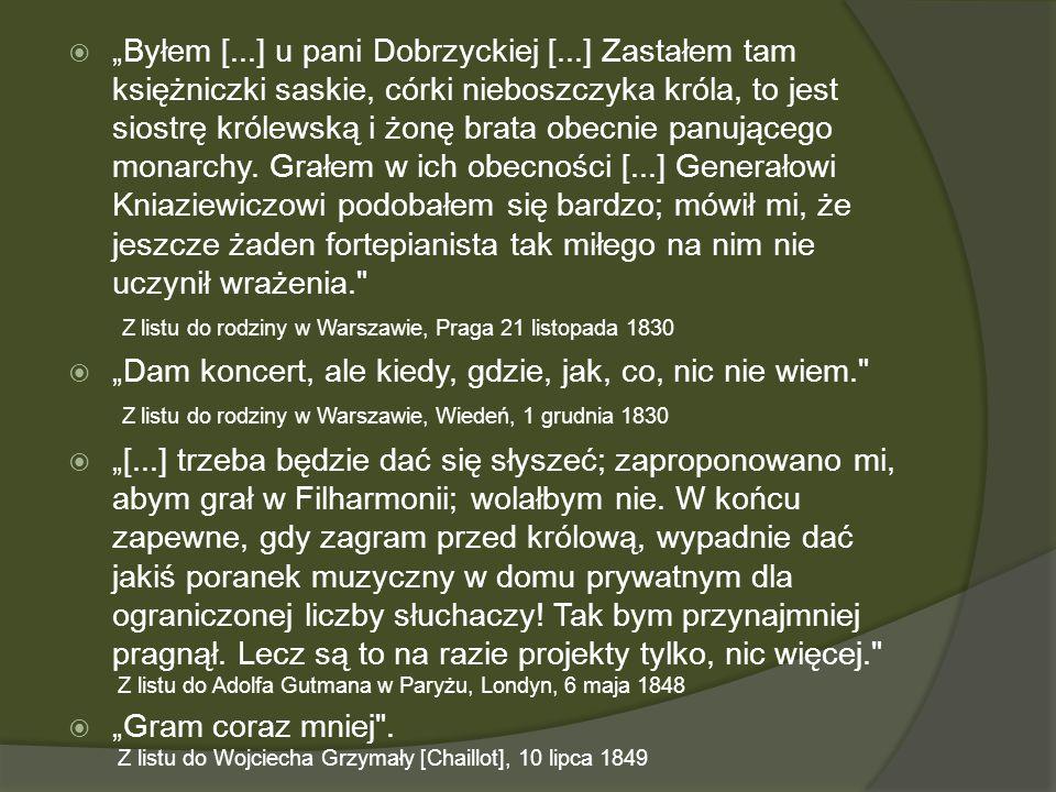 """""""Byłem [. ] u pani Dobrzyckiej ["""